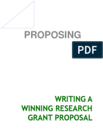 Writing a Winning Grant Proposal
