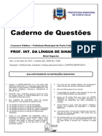 PROVA FINAL - Professor Interlocutor Da Língua de Sinais - Libras