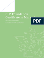 Level 3 Foundation Certificate in Marketing Qualifications
