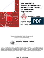 AWS the Every Pocket Handbook on Welded Joint Details for Strucural Applications