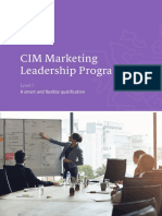 CIM Marketing Leadership Programme Level 7 Qualification