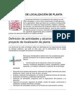 Métodos de Localización de Planta