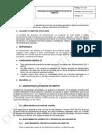 Ps d 004_programa de Mantenimiento de Equipos de Computo