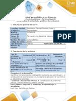 Formato Guía y Rubrica Unidad 2- Paso 3 de Reflexión Teorica