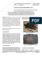 Soil Stablization Using Shredded Rubber Tyre