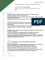 """Programa del Encuentro """"Construyendo información geográfica"""