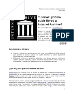 Tutorial Publicar en Internet Archive