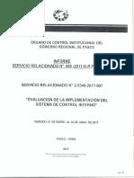 Evaluacion de Implementacion Del Sistema de Control Interno - I 2017