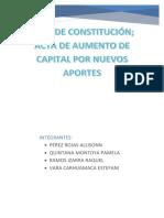 Primera Acta de Constitución