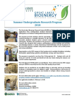 GLBRC Summer Undergrad Research Program 2018