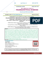 ASSESSMENT OF PATIENT'S SATISFACTION WITH PHARMACEUTICAL SERVICES AND HEALTHCARE FACILITIES IN TERTIARY CARE HOSPITALS QUETTA, PAKISTAN