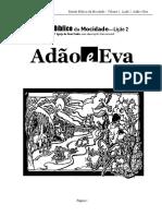 Estudo Bíblico Da Mocidade - Lição 2 - Adão e Eva