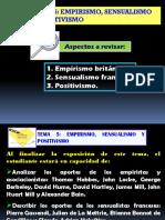 Guión 5 Empirismo, Sensualismo y Positivismo (1)