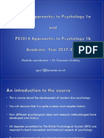 PS1012 Approaches to Psychology 1a - Lecture 1-2 2017 (4)