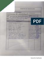 Registro de Capacitacion