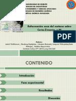 Reformación Seca Del Metano Sobre Cerio-Zirconia Soportado en NI. P