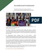 TCP Declara Inconstitucional El Matrimonio Entre Trans