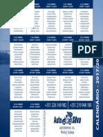 Calendario Liga Nos 17 18 Branco