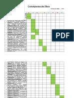 Cronograma, Grafico y Costo m2