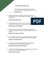 Cuestionario Psicología Forense