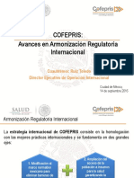 1. Armonización Regulatoria