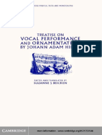 Hiller, Johann Adam (Beicken, Suzanne, Ed) - Vocal Performance and Ornamentation
