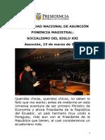 Conferencia Socialismo Siglo Xxi