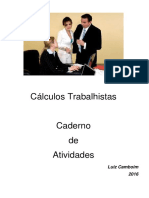 Caderno de Atividades - Cálculos Trabalhistas Sala - Parte I