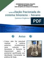 7 - Destilação Do Sistema Limoneno-hexano – BAC 2013 - G7A