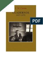 Cioran, Emil, Cuadernos 1957 - 1972