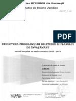 05-Structura Programului de Studii Si a Planului de Invatamant Drept