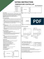 Manual de Operacion Controlador Digital Estufa