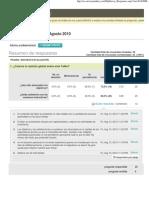 Encuesta Resultados UNC Cordoba, Argentina 13 ag. 2010