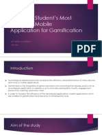 university students most preferred mobile application for gamification