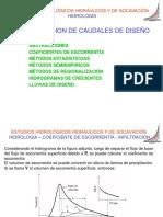 CAUDALES DE DISEÑO