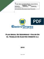 Passt 2016- Plan Anual de Seguridad y Salud en El Trabajo (2)