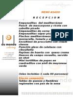 Du Monde Catering - Menu Asado Completo 2013
