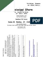 Marcha.- Mississippi Shore -Arr. Harry l. Alford