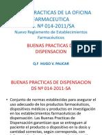 Buenas Practicas de La Oficina Farmaceutica- Buenas Practicas de Dispensacion