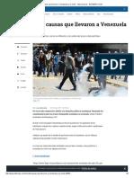 causas que llevaron a venezuela a la crisis - internacional - eltiempo