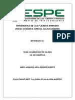 Silabus de Informatica II - ESPE - ESSUNA