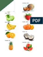 Frutas en Ingles Con Imagen