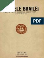 Analele Brailei, An 01, Nr. 01, Ianuarie-februarie 1929