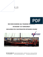 Rd Rose Marine Ltd - SY Gindungo Program