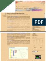 Rydberg Series Espectrales Del Hidrogeno