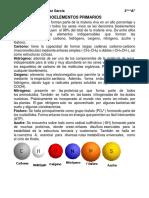Bioelementos Primarios y Sec