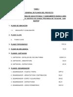 Indice General de Planos