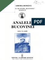 06-1-Analele Bucovinei, An VI, Nr. 1 (1999)