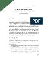 Benente, Mauro. El Principio de Legalidad y Los Límites Al Poder Punitivo.