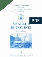 07-2. Analele Bucovinei, An VII, Nr. 2 (2000)
